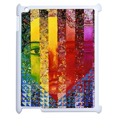 Conundrum I, Abstract Rainbow Woman Goddess  Apple Ipad 2 Case (white) by DianeClancy