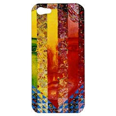 Conundrum I, Abstract Rainbow Woman Goddess  Apple Iphone 5 Hardshell Case by DianeClancy
