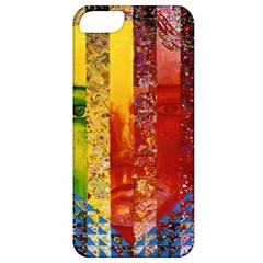 Conundrum I, Abstract Rainbow Woman Goddess  Apple Iphone 5 Classic Hardshell Case by DianeClancy