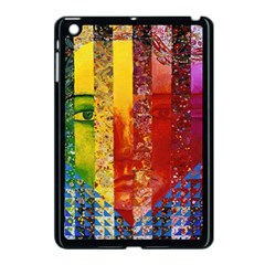 Conundrum I, Abstract Rainbow Woman Goddess  Apple Ipad Mini Case (black) by DianeClancy
