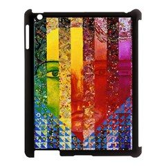 Conundrum I, Abstract Rainbow Woman Goddess  Apple Ipad 3/4 Case (black) by DianeClancy