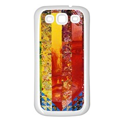 Conundrum I, Abstract Rainbow Woman Goddess  Samsung Galaxy S3 Back Case (white) by DianeClancy