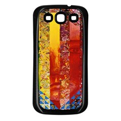 Conundrum I, Abstract Rainbow Woman Goddess  Samsung Galaxy S3 Back Case (black) by DianeClancy