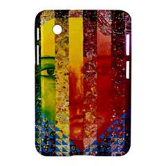Conundrum I, Abstract Rainbow Woman Goddess  Samsung Galaxy Tab 2 (7 ) P3100 Hardshell Case  by DianeClancy