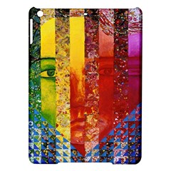 Conundrum I, Abstract Rainbow Woman Goddess  Apple Ipad Air Hardshell Case by DianeClancy