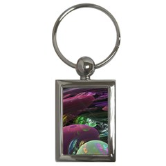 Creation Of The Rainbow Galaxy, Abstract Key Chain (rectangle) by DianeClancy