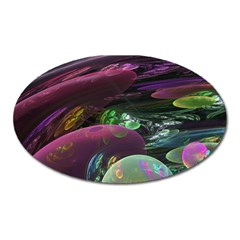 Creation Of The Rainbow Galaxy, Abstract Magnet (oval) by DianeClancy