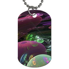 Creation Of The Rainbow Galaxy, Abstract Dog Tag (one Sided) by DianeClancy