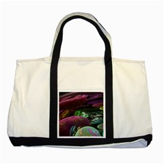 Creation Of The Rainbow Galaxy, Abstract Two Toned Tote Bag by DianeClancy