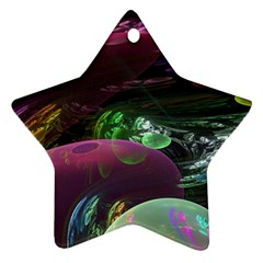 Creation Of The Rainbow Galaxy, Abstract Star Ornament (two Sides) by DianeClancy