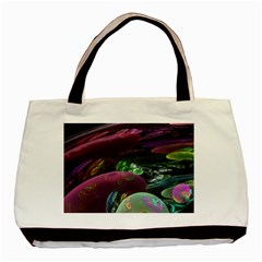 Creation Of The Rainbow Galaxy, Abstract Twin Sided Black Tote Bag by DianeClancy