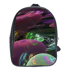 Creation Of The Rainbow Galaxy, Abstract School Bag (large) by DianeClancy