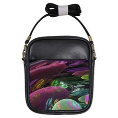 Creation Of The Rainbow Galaxy, Abstract Girl s Sling Bag by DianeClancy