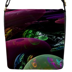 Creation Of The Rainbow Galaxy, Abstract Flap Closure Messenger Bag (small) by DianeClancy