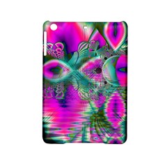 Crystal Flower Garden, Abstract Teal Violet Apple Ipad Mini 2 Hardshell Case by DianeClancy