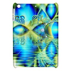 Crystal Lime Turquoise Heart Of Love, Abstract Apple Ipad Mini Hardshell Case by DianeClancy