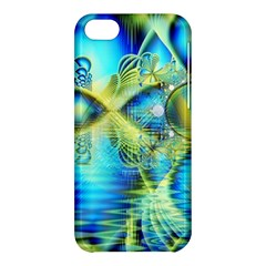 Crystal Lime Turquoise Heart Of Love, Abstract Apple Iphone 5c Hardshell Case by DianeClancy