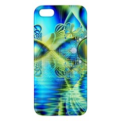 Crystal Lime Turquoise Heart Of Love, Abstract Iphone 5s Premium Hardshell Case by DianeClancy