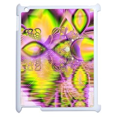 Golden Violet Crystal Heart Of Fire, Abstract Apple Ipad 2 Case (white)