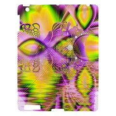 Golden Violet Crystal Heart Of Fire, Abstract Apple Ipad 3/4 Hardshell Case by DianeClancy
