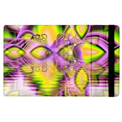 Golden Violet Crystal Heart Of Fire, Abstract Apple Ipad 3/4 Flip Case