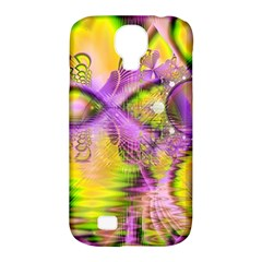 Golden Violet Crystal Heart Of Fire, Abstract Samsung Galaxy S4 Classic Hardshell Case (pc+silicone) by DianeClancy