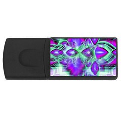 Violet Peacock Feathers, Abstract Crystal Mint Green 4gb Usb Flash Drive (rectangle)
