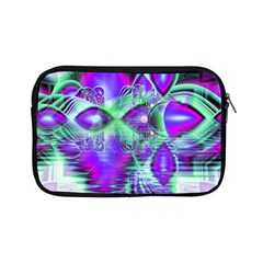 Violet Peacock Feathers, Abstract Crystal Mint Green Apple Ipad Mini Zippered Sleeve by DianeClancy