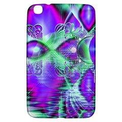 Violet Peacock Feathers, Abstract Crystal Mint Green Samsung Galaxy Tab 3 (8 ) T3100 Hardshell Case  by DianeClancy