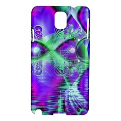 Violet Peacock Feathers, Abstract Crystal Mint Green Samsung Galaxy Note 3 N9005 Hardshell Case by DianeClancy
