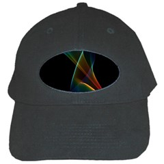 Abstract Rainbow Lily, Colorful Mystical Flower  Black Baseball Cap by DianeClancy