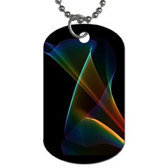 Abstract Rainbow Lily, Colorful Mystical Flower  Dog Tag (one Sided) by DianeClancy