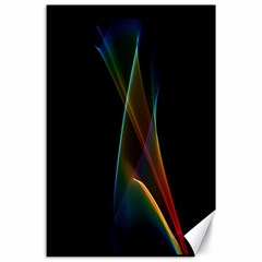 Abstract Rainbow Lily, Colorful Mystical Flower  Canvas 24  X 36  (unframed)