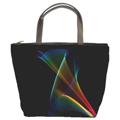 Abstract Rainbow Lily, Colorful Mystical Flower  Bucket Handbag by DianeClancy