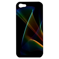 Abstract Rainbow Lily, Colorful Mystical Flower  Apple Iphone 5 Hardshell Case by DianeClancy
