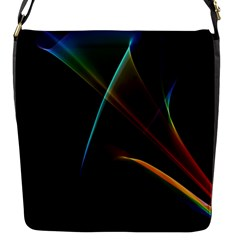 Abstract Rainbow Lily, Colorful Mystical Flower  Flap Closure Messenger Bag (small) by DianeClancy