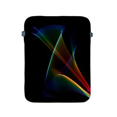 Abstract Rainbow Lily, Colorful Mystical Flower  Apple Ipad Protective Sleeve by DianeClancy