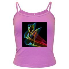 Peacock Symphony, Abstract Rainbow Music Spaghetti Top (colored) by DianeClancy