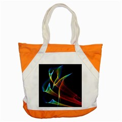 Peacock Symphony, Abstract Rainbow Music Accent Tote Bag by DianeClancy