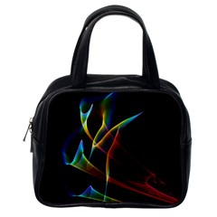 Peacock Symphony, Abstract Rainbow Music Classic Handbag (one Side) by DianeClancy