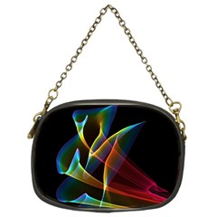 Peacock Symphony, Abstract Rainbow Music Chain Purse (two Sided)  by DianeClancy