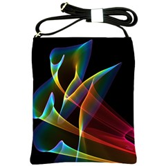 Peacock Symphony, Abstract Rainbow Music Shoulder Sling Bag by DianeClancy