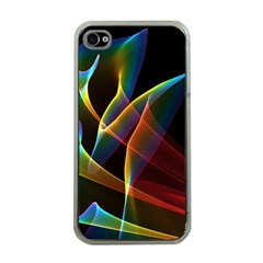 Peacock Symphony, Abstract Rainbow Music Apple Iphone 4 Case (clear) by DianeClancy