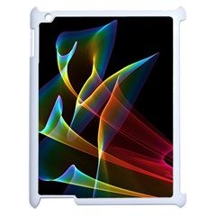Peacock Symphony, Abstract Rainbow Music Apple Ipad 2 Case (white)
