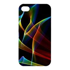 Peacock Symphony, Abstract Rainbow Music Apple Iphone 4/4s Hardshell Case by DianeClancy