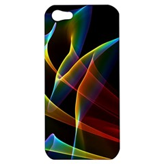 Peacock Symphony, Abstract Rainbow Music Apple Iphone 5 Hardshell Case by DianeClancy