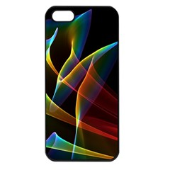 Peacock Symphony, Abstract Rainbow Music Apple Iphone 5 Seamless Case (black) by DianeClancy