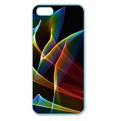 Peacock Symphony, Abstract Rainbow Music Apple Seamless Iphone 5 Case (color)
