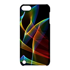Peacock Symphony, Abstract Rainbow Music Apple Ipod Touch 5 Hardshell Case With Stand by DianeClancy