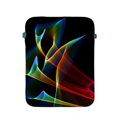 Peacock Symphony, Abstract Rainbow Music Apple Ipad Protective Sleeve by DianeClancy